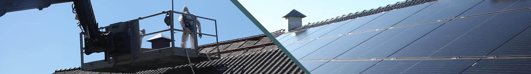 asbestvrij dak en zonnepanelen